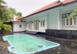 ⭐️BEAUTIFUL FULLY REFURBISHED SINGLE STOREY BLACK & WHITE BUNGALOW- GREENERY- KING ALBERT PARK MRT⭐️ - Property For Rent in Singapore