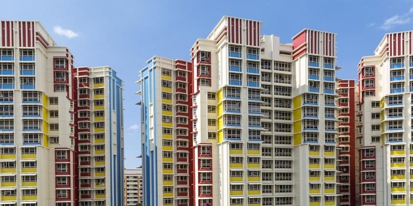 Colourful HDB flats