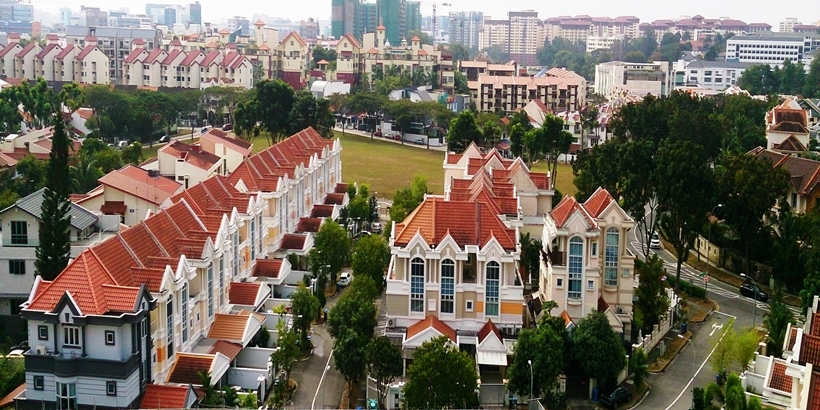 Terraced houses at Serangoon,Singapore