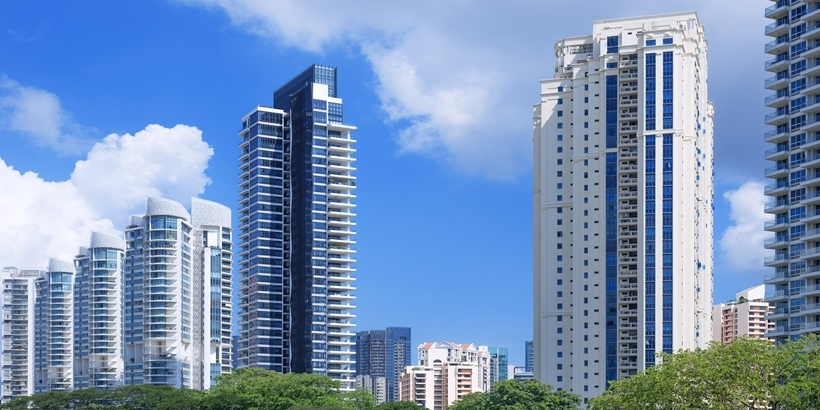 Luxury apartments in Singapore.