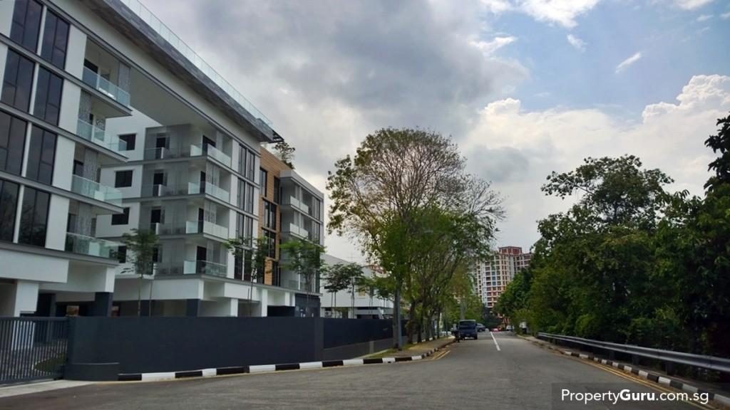 Singa Hills at the end of Jalan Singa
