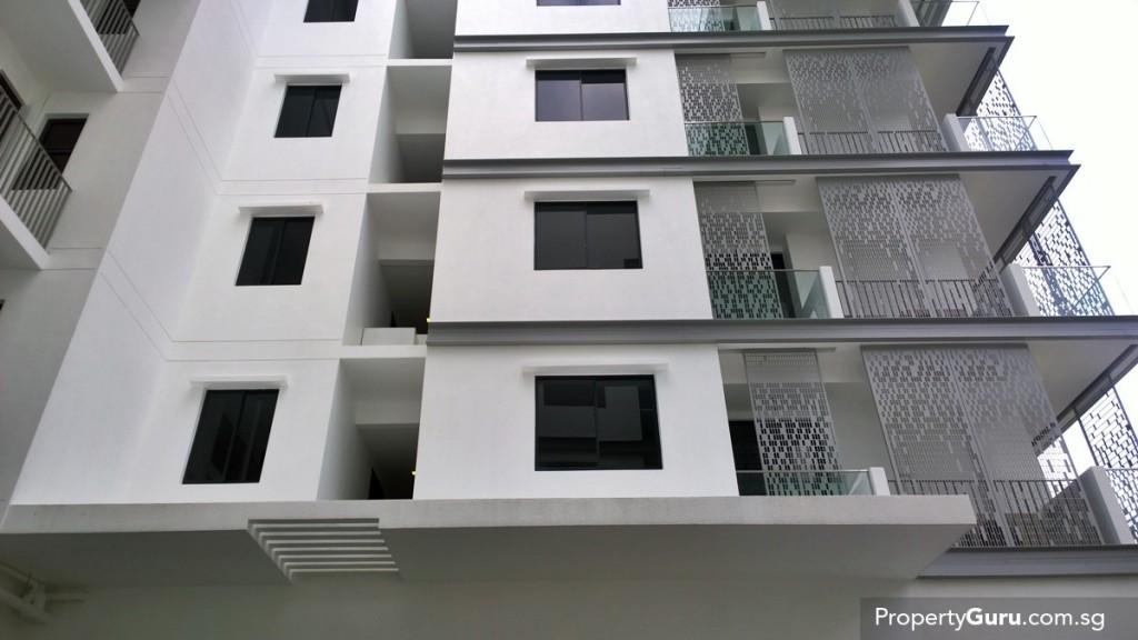 side facade with sun screen