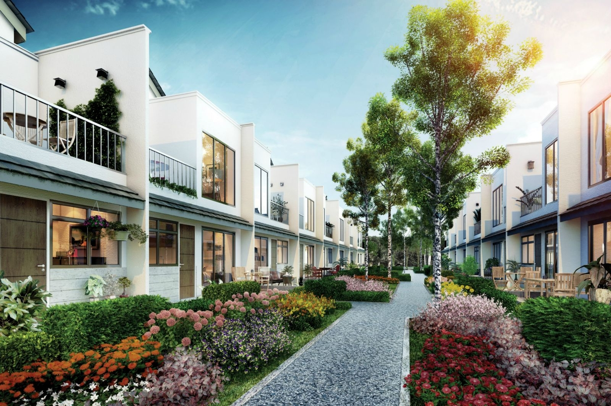 Eco summer double storey terrace homes in malaysia for Terrace house stream online