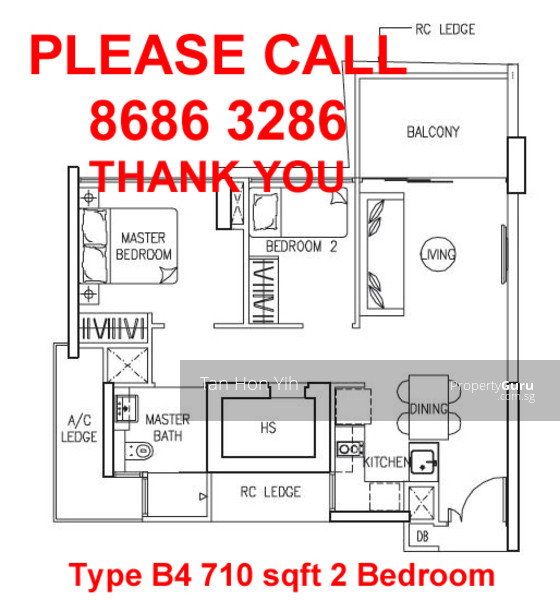 The Trilinq 2 Bedroom Type B4 66 Sqm 710 Sqft Br Icon Pasir Panjang