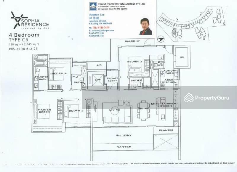 Sophia residence 5 sophia road 4 bedrooms 2045 sqft for 1919 sophia floor plan