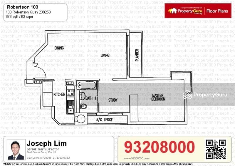 Robertson 100, 100 Robertson Quay, 1 Bedroom, 678 Sqft