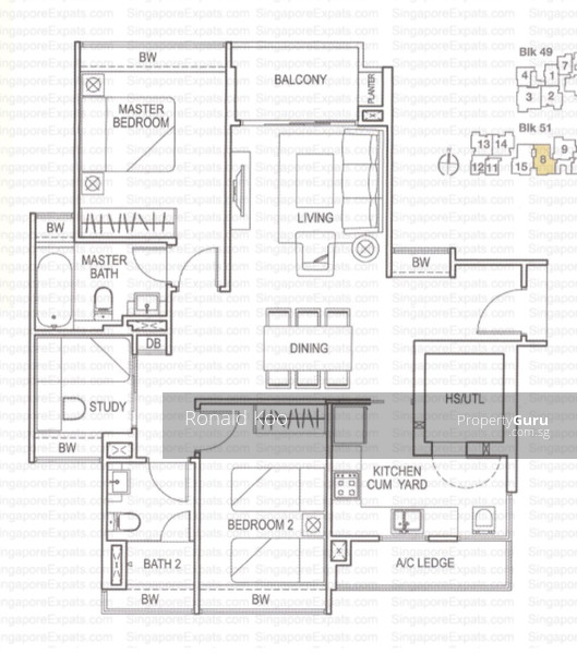 The amarelle 49 lim ah woo road 3 bedrooms 1001 sqft for Floor plans 80 marine parade