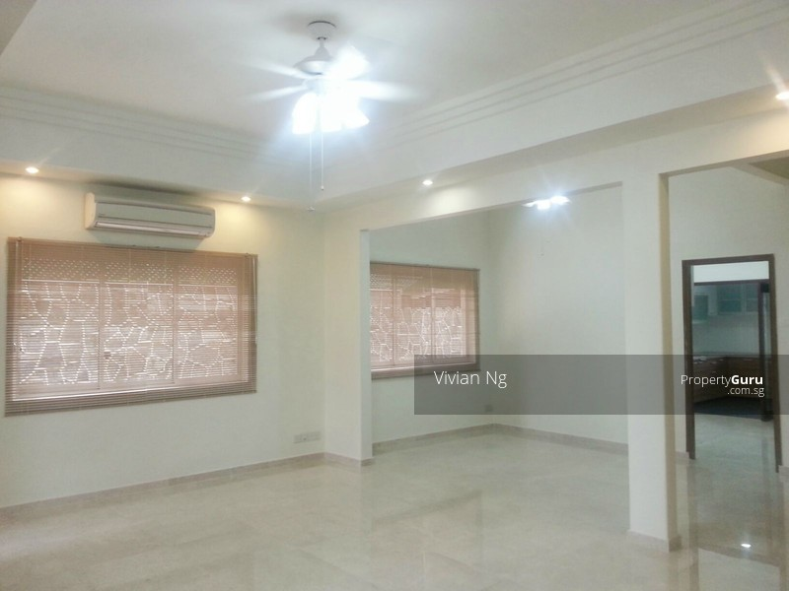 Spacious Living room, New windows