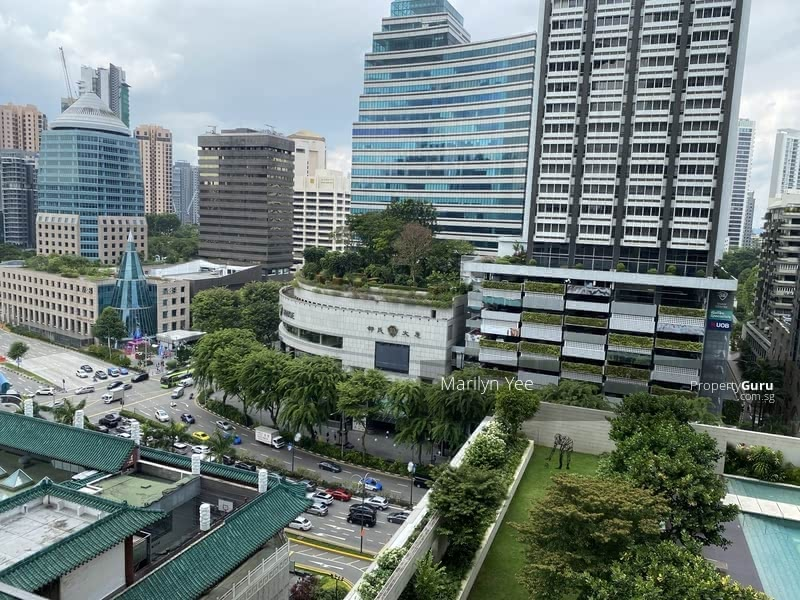 View of Scotts Road from balcony