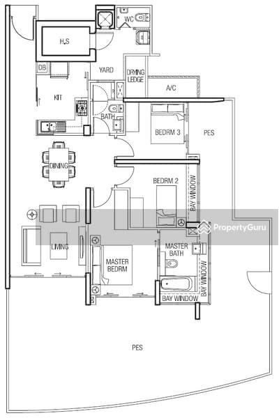 01 Ground Floor Unit at The Parc Condo, West Coast Walk, 3 Bedrooms ...