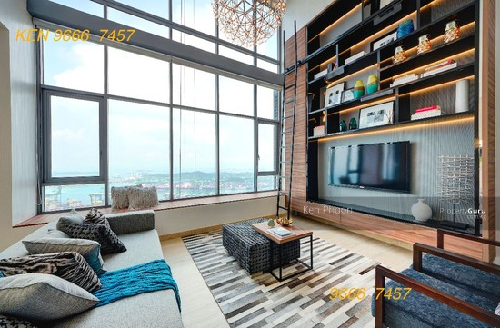 Brand new altez spacious loft high ceiling raffles place mrt tanjong pagar mrt mbfc 2 for 2 bedroom apartment for rent in singapore