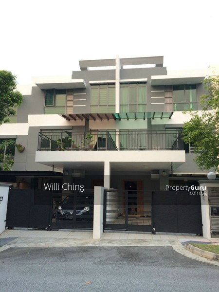 3 storey modern terrace gerald drive 5 bedrooms 3080 for Terrace house singapore