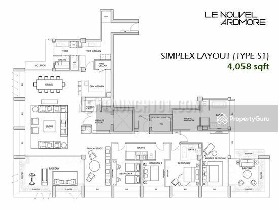 Le Nouvel Ardmore, 1A Ardmore Park, 4 Bedrooms, 4058 Sqft ...