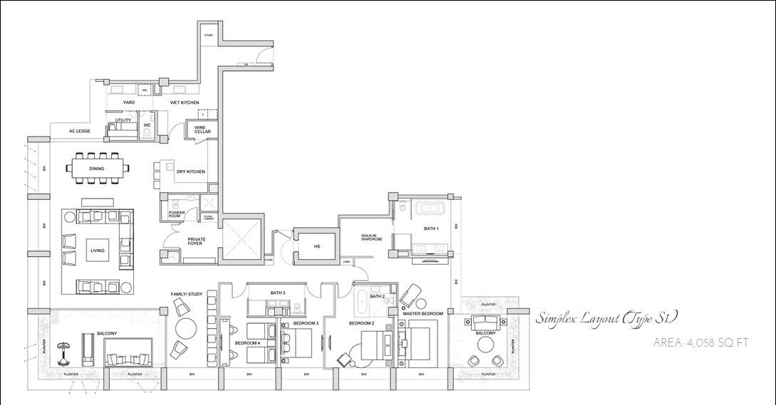 Le Nouvel Ardmore, 1A Ardmore Park, 4 Bedrooms, 3961 Sqft ...