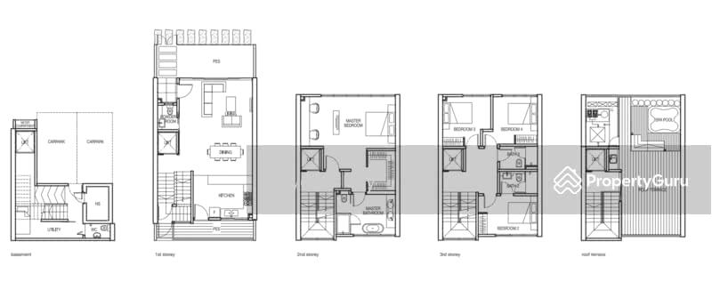 URBAN VILLAS Cluster Housing Landed D TOP SOON - Cluster home floor plans