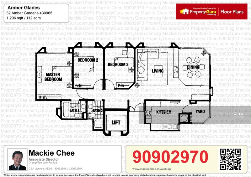 Amber glades 32 amber gardens 3 bedrooms 1206 sqft for Floor plans 80 marine parade