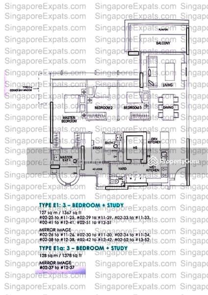 Double Bay Residences, 19D Simei Street 4, 3 Bedrooms, 1366 Sqft ...