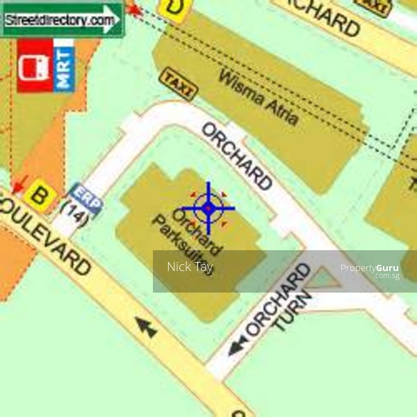 how to go to orchard road by mrt
