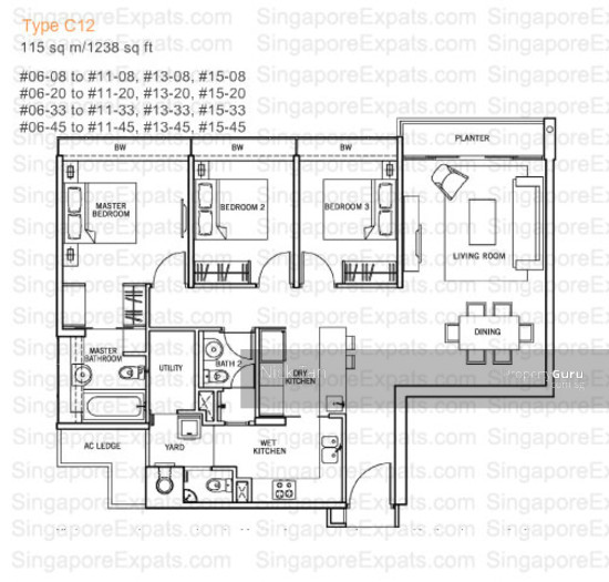 The centris 65 jurong west central 3 3 bedrooms 1237 for Apartment design guide sepp 65