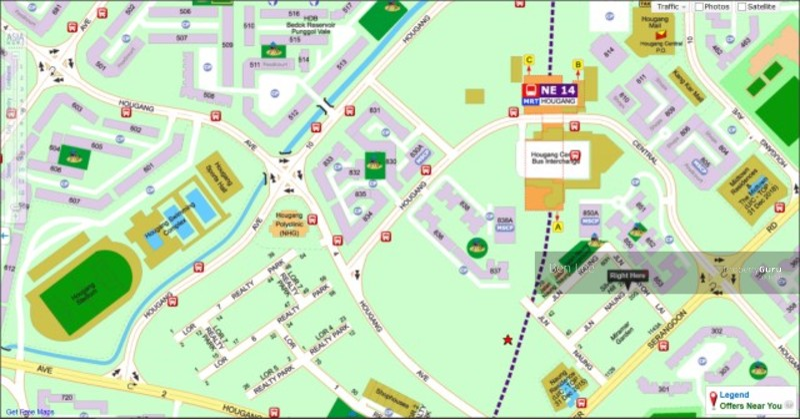 Jalan Naung Hougang Mrt 4f Rear Master Bedroom Rental Lease 4 Jalan Naung Room Rental 300