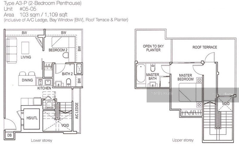 The amarelle 49 lim ah woo road 2 bedrooms 1108 sqft for Floor plans 80 marine parade