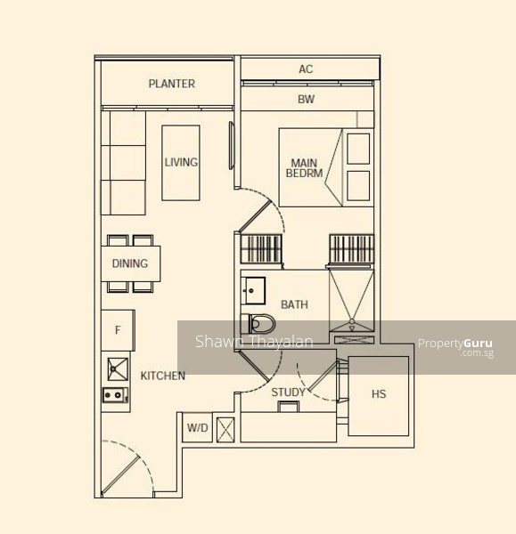 Rv suites 396 river valley road 1 bedroom 517 sqft for Rv suites floor plan