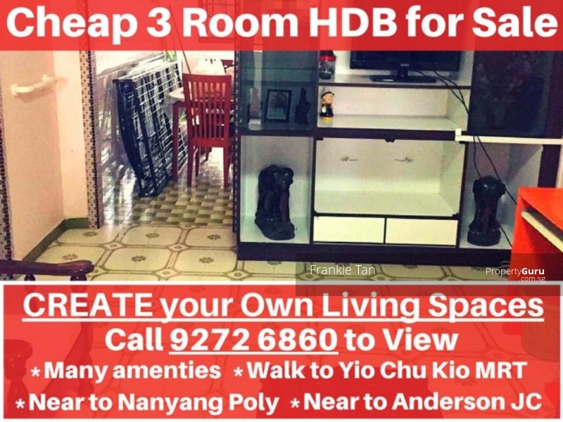 cheap hdb for sale near yio chu kang mrt 606 ang mo kio avenue 5 2 bedrooms 720 sqft hdb