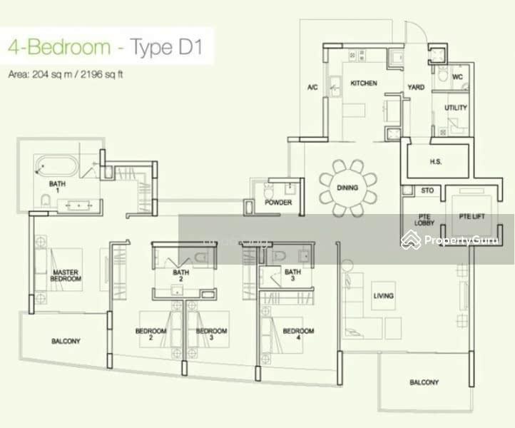 Waterfall Gardens, 10 Farrer Road, 4 Bedrooms, 2196 Sqft ...