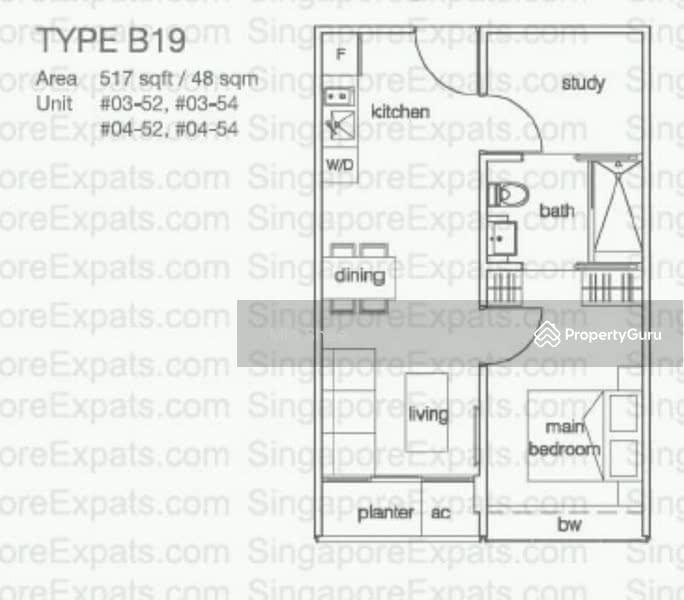 alexis 356 alexandra road 1 bedroom 517 sqft