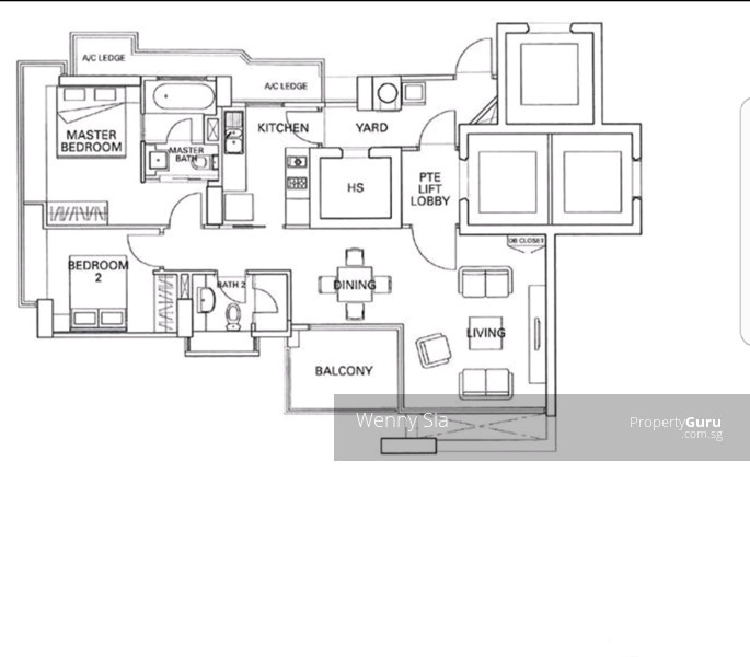 Residences @ Evelyn, 13 Evelyn Road, 2 Bedrooms, 1109 Sqft ...