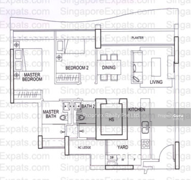 Double Bay Residences, 17A Simei Street 4, 2 Bedrooms, 936 Sqft ...