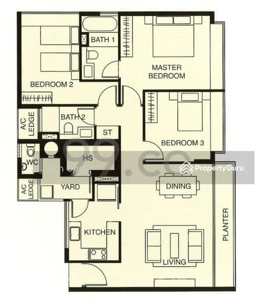 Riveredge, 21 Sampan Place, 3 Bedrooms, 1335 Sqft, Condominiums ...