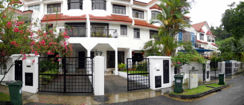 Upper bt timah shaman terrace renovated house w pool for Terrace house singapore