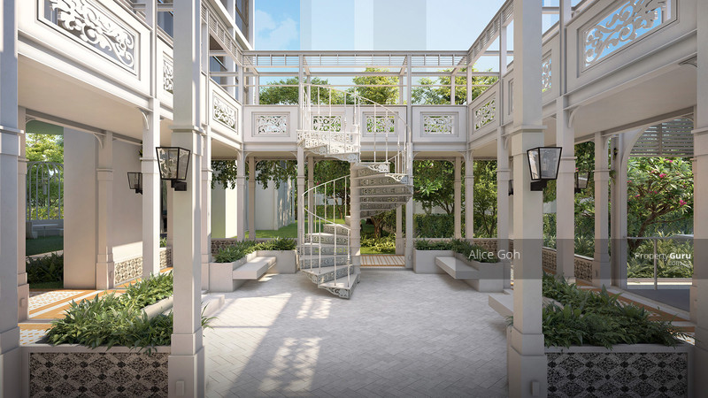 Intricately designed courtyard