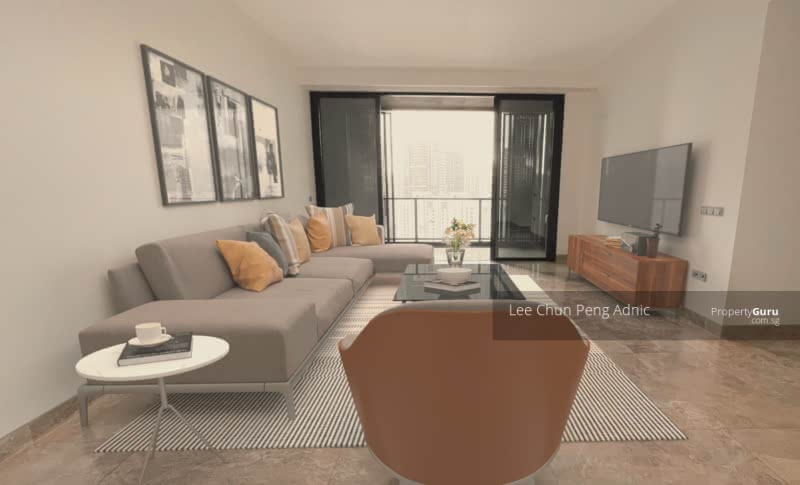Actual Living Area with Furniture Illustrations