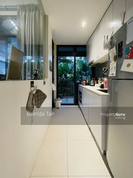 Enclosed Kitchen with gas stove