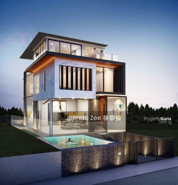 Jalan Arnap, semi-detached with pool, lift and attic