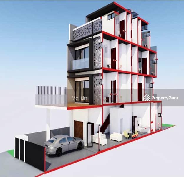 D19 Simon Lane ★ $4.38m TOP 2021 Brand New Modern 3.5 Storey Terrace House Near Kovan MRT #128152456