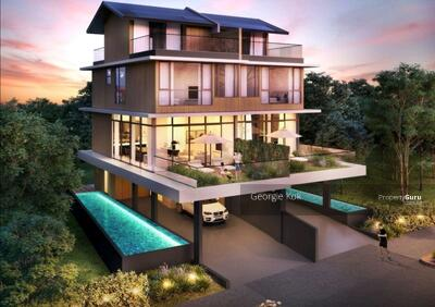 For Sale - Brand New Freehold 3. 5 Storey Semi-Detached House with Pool & Lift. Tranquil, faces park