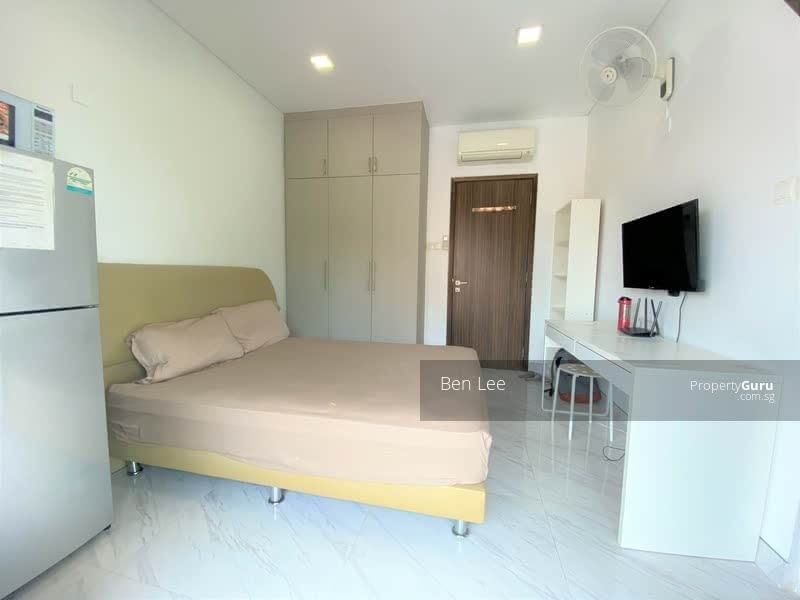 fully furnish with queen bed, wardrobe, fridge, table, aircon, tv, wall fan