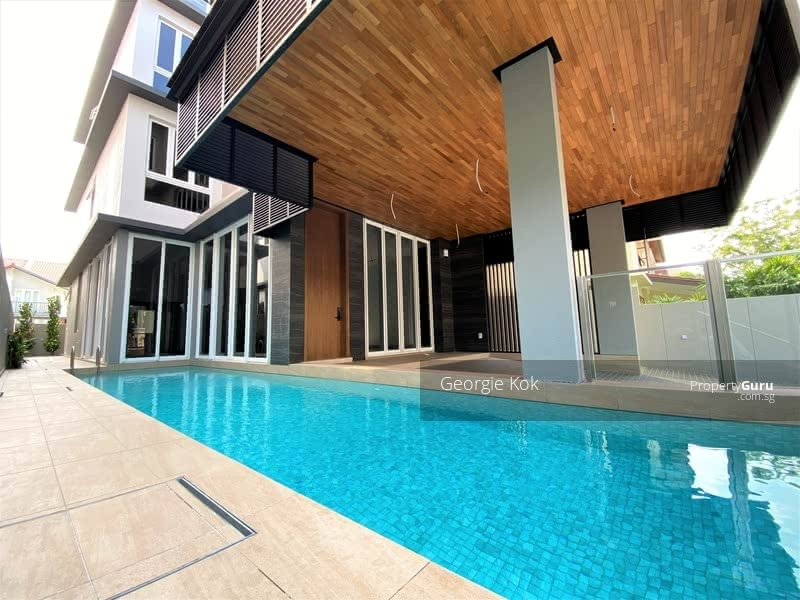 Brand New Detached House with Pool & Lift, Minutes Walk from Kembangan MRT #128954852