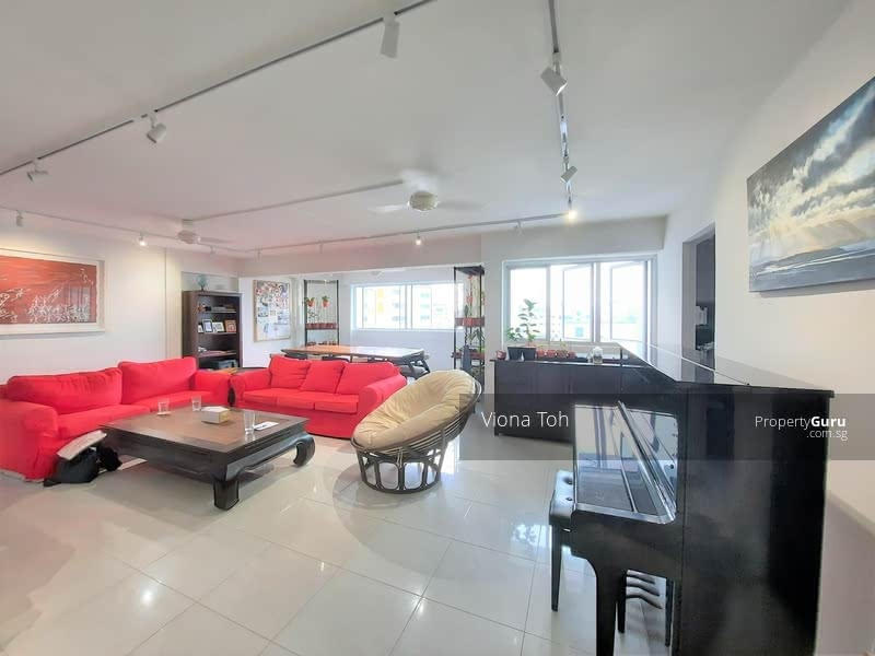 Very spacious living and dining area comes fitted with track lights and ceiling fans