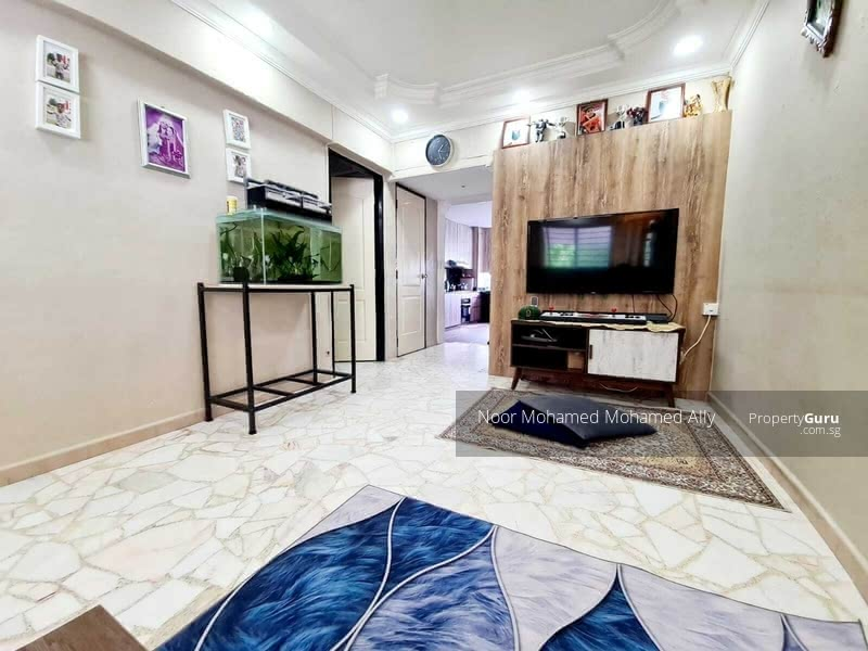 Renovated Living Area with Marble Flooring