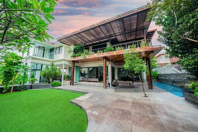 For Sale - SIMPLY ATAS! ! Luxe Villa Elevated View! Elegant, Luxurious Bungalow Nestled in Prime Braddell Hts