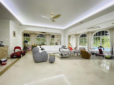 For Sale - Rare Freehold GCB with Good Move-in condition, Swimming Pool and Lush Greenery at Elevated Ground