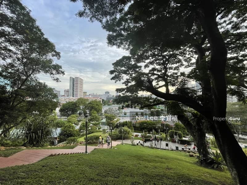 View of Canninghill Piers from Fort Canning
