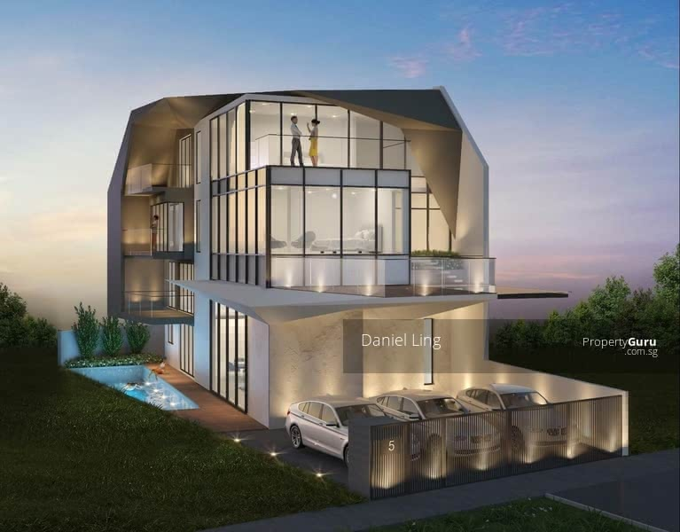 Luxurious Brand New SemiD with Home Lift, Swimming Pool & Car porch for 2 cars @ One Tree Hill #130363944