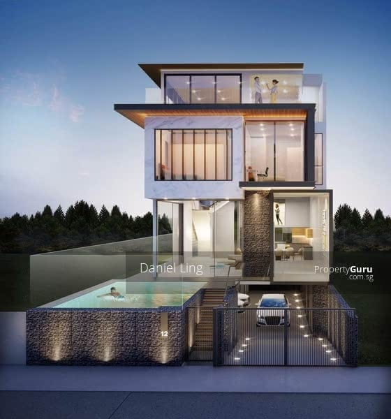 Luxurious Brand New SemiD with Home Lift, Swimming Pool & Car porch for 2 to 3 cars @ One Tree Hill #130363852