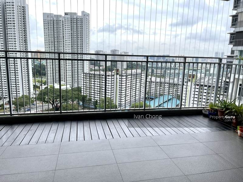 Spacious balcony adjoining living and dining provides additional space for your family's enjoyment