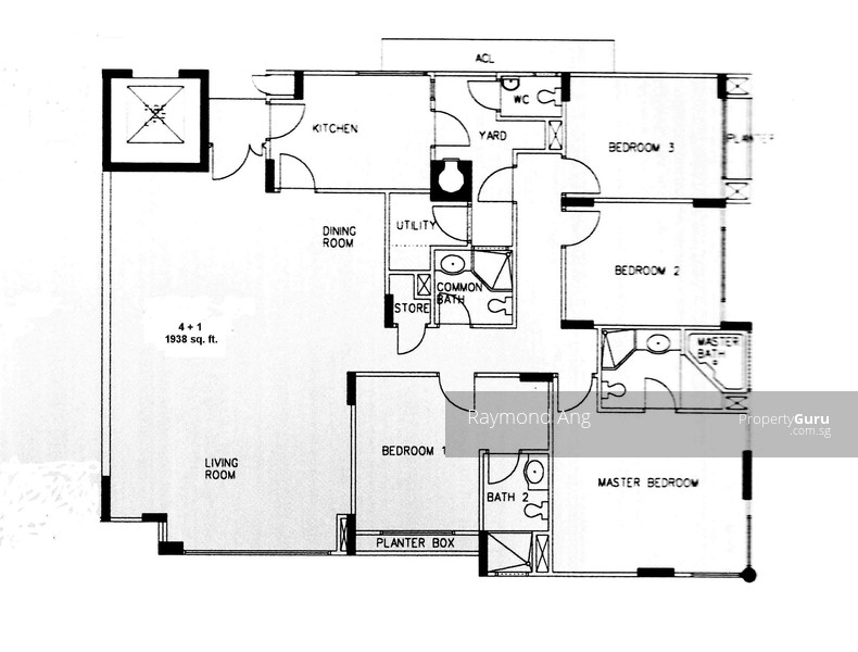 The sterling 1003 bukit timah road 4 bedrooms 1938 sqft for Sterling plan